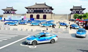 Electric taxis in Henan.