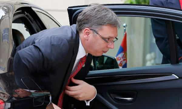 Serbian prime minister Aleksandar Vučić