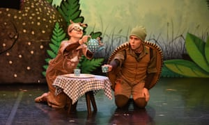 Kaylee Marko and, right, Gavin McCaig in Northern Ballet's Tortoise & the Hare.