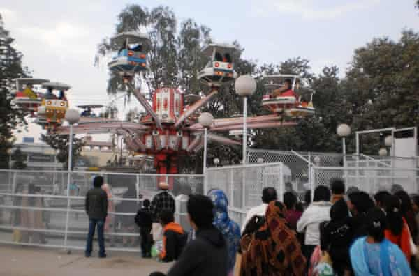 Fairground rides at Gulshan-e-Iqbal park, Lahore,