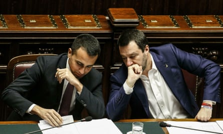 Deputy prime ministers Matteo Salvini (right) and Luigi Di Maio (left) in Rome this week.