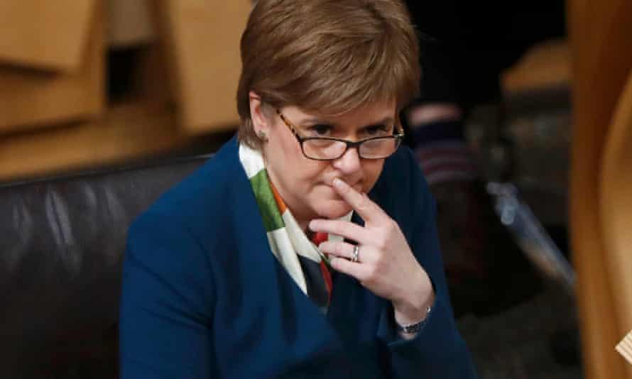 Nicola Sturgeon attends a Brexit debate in the Scottish parliament