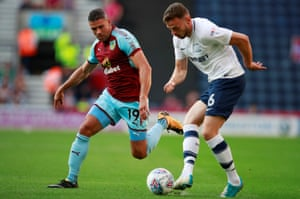 Jon Walters, left, has been signed by Burnley from Stoke to bolster the squad's Premier League experience.