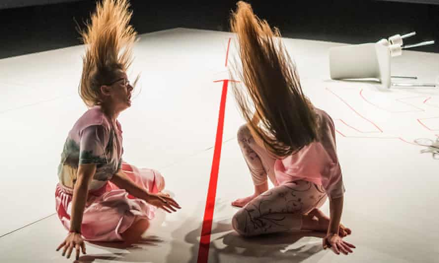 Hyped-up tirades … Eleanor Sikorski and Charlotte Maclean in Aftermath.