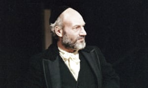 Patrick Stewart as Shylock in John Barton's 1978 production of The Merchant of Venice.