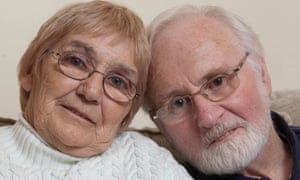 Jackie Gormleywith her husband Keith Gormley aged 74, a retired warehouse manager from St John's, Worcestershire. who suffers from heart problems.