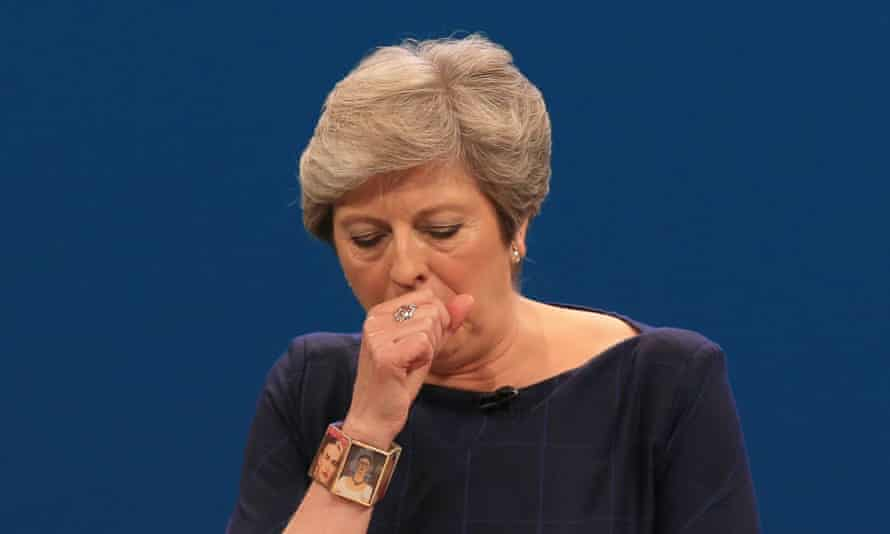 Theresa May at last year's Conservative party conference