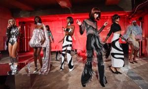 Retro chic: models dancing at the 16Arlington show, SS20, London Fashion Week,