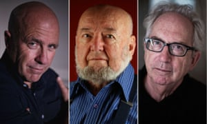 Australian authors Richard Flanagan, Thomas Keneally and Peter Carey... all outspoken critics of the government's proposal.