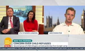 Piers Morgan attacked Davies for what he called the 'demonisation' of child refugees on ITV's Good Morning Britain.