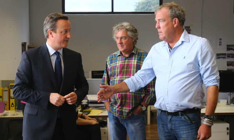 Cameron tours the west London office of the former Top Gear trio's production firm.