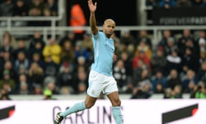 Vincent Kompany is captain of Manchester City, who are top of the Premier League.