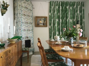 The dining room in Anne's house, MillesgårdenA selection of Frank furniture and textile designs installed in Millesgården, the house of Swedish artist couple Carl and Olga Milles