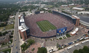 Over 100,000 fans attended Manchester United v Real Madrid at Michigan Stadium in 2014.