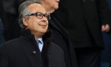 Farhad Moshiri watches Everton play Arsenal last month.