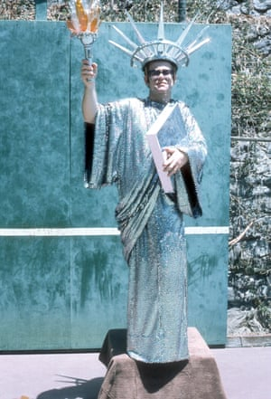 Elton wears a Statue Of Liberty costume for a portrait session in circa 1980 in New York City. However, he first dressed up as the Statue Of Liberty at a gig in Massachusetts in 1976, for the US Bicentennial.