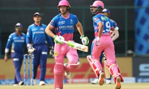 Jos Buttler, left, and Yashasvi Jaiswal in action for Rajasthan Royals in the IPL.