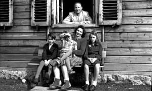 Otto von Wächter with his family, Austria, 1948