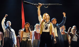The 25th-anniversary stage production of Les Misérables at the Barbican, London, in 2010.