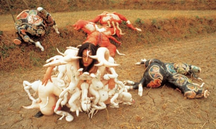 'Everything about me is a minority. This is perfect for an artist' … Lee Bul in Cravings, 1989, an outdoor performance in Jang Heung, Korea.