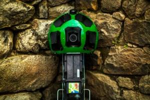 Google street view trekker camera at Machu Picchu