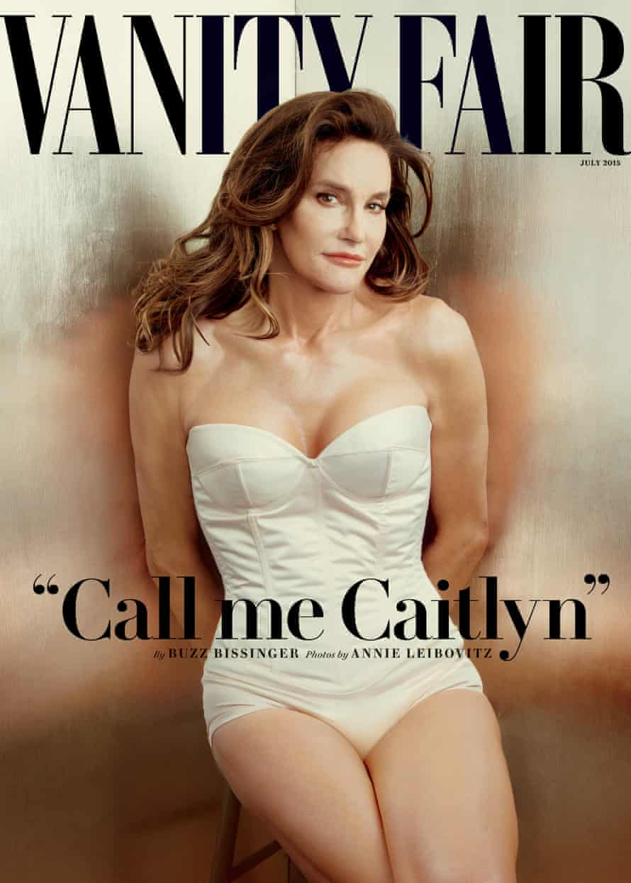 This file photo taken by Annie Leibovitz exclusively for Vanity Fair shows the cover of the magazine's July 2015 issue featuring Bruce Jenner debuting as a transgender woman named Caitlyn Jenner.