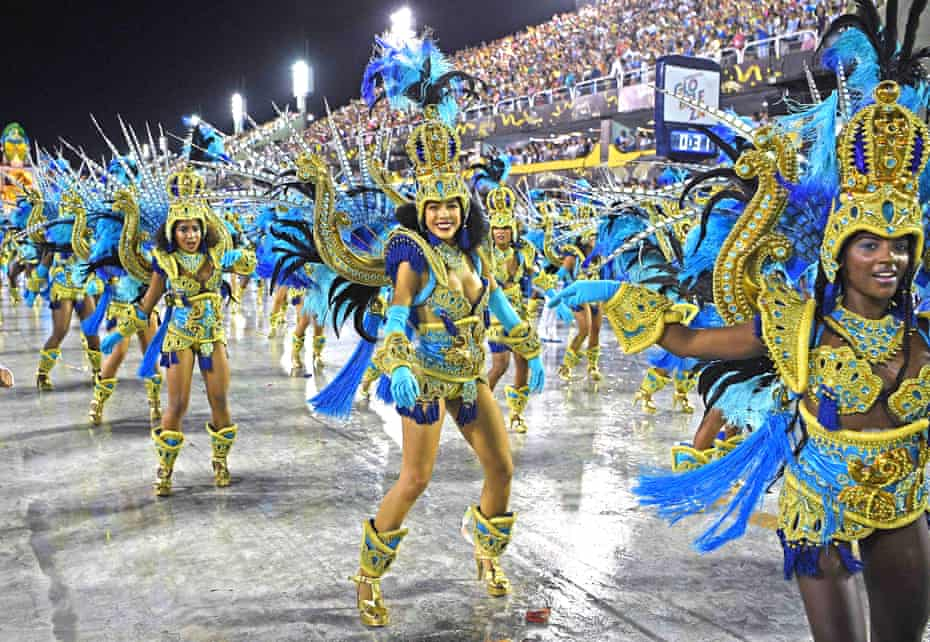 The Vila Isabel samba school at the 2020 Rio carnival.