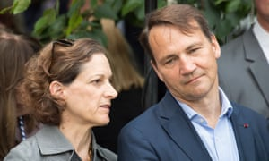 Anne Applebaum with her husband, Radosław Sikorski.