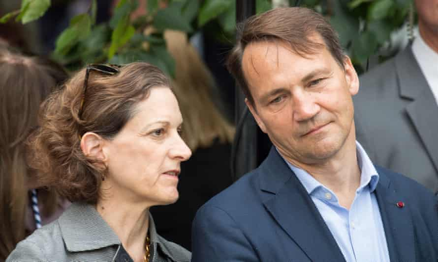 Anne Applebaum with her husband, Radosław Sikorski.