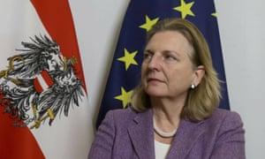 Karin Kneissl, the Austrian foreign minister.