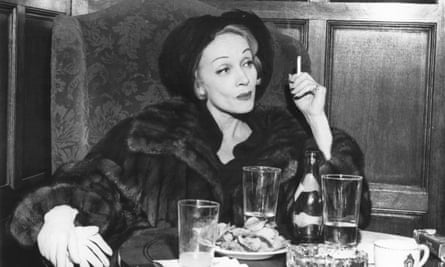 Marlene Dietrich photographed for her Observer interview in Balenciaga.
