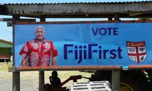 An election poster for Frank Bainimarama