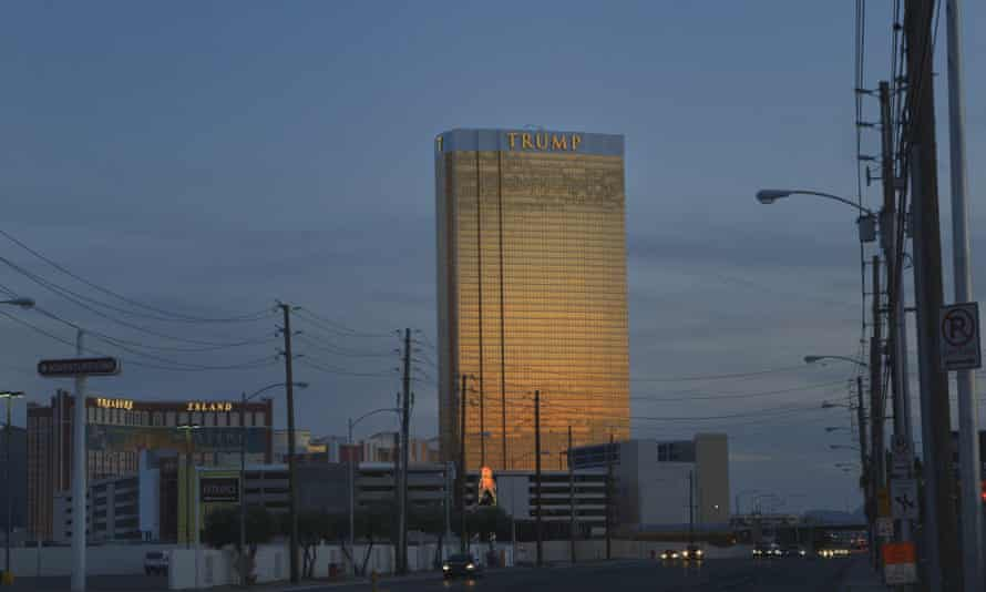 The Trump hotel in Las Vegas, where cleaning staff stay mostly invisible, using separate elevators and doorways.