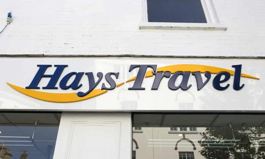 Hays Travel shop sign