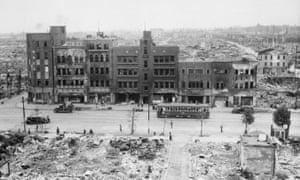 More than a quarter of Tokyo was laid waste during three years of bombing of the Japanese capital.