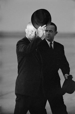 American president Dwight Eisenhower with Swiss president Max Petitpierre at the Geneva Summit in 1955 by Erich Lessing