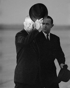 Dwight D Eisenhower in Geneva, 1955