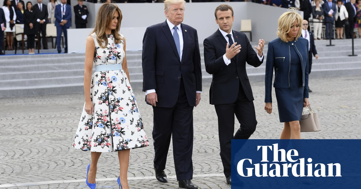 Trump Visit To Paris Ends Without Large Demonstrations Us News