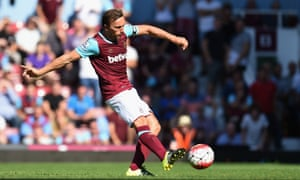 Mark Noble scores from the spot.