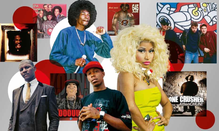 Chapter and verse ... (clockwise from top) Snoop Dogg; Nicki Minaj; Dizzee Rascal, Giggs.