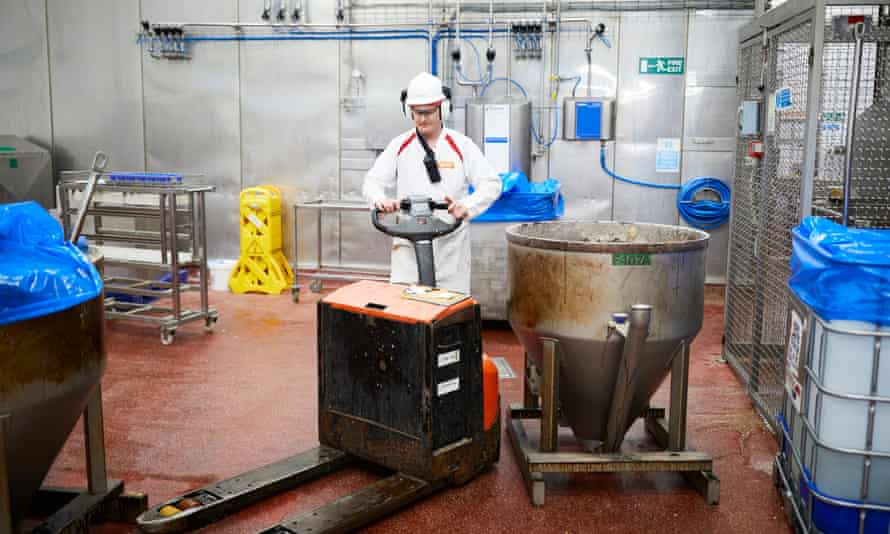 Vegetarian burger production at Quorn foods in Stokesley.