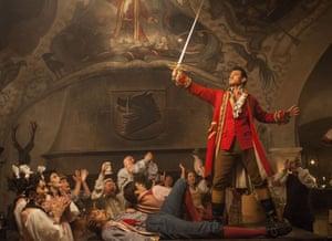 Amusingly played … Luke Evans as the caddish Gaston.