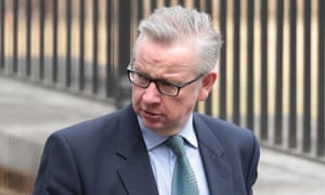 Michael Gove arrives for cabinet this morning.