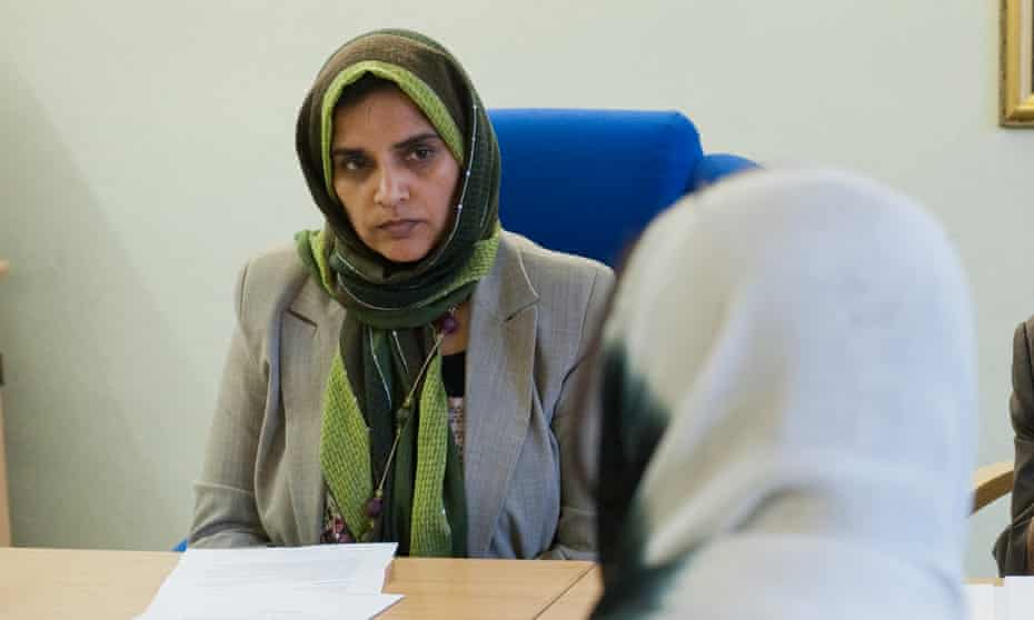 'The Islamic fundamental of marriage is that a woman should feel safe'… Dr Amra Bone hears a divorce request at Birmingham Central mosque.