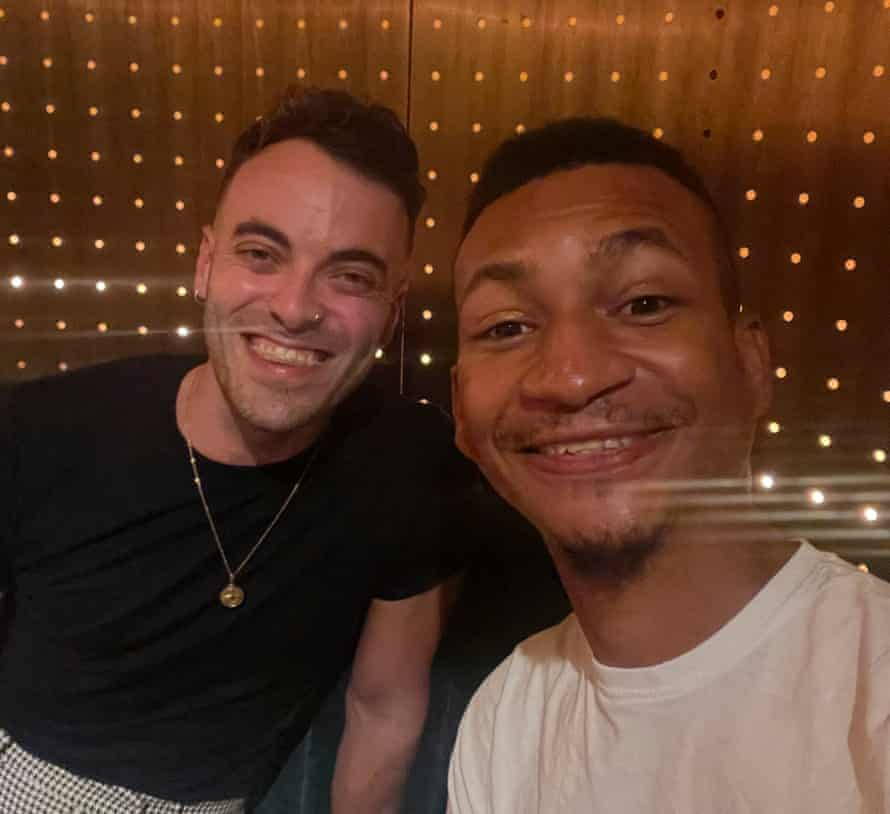 Tom and Philip on their date.
