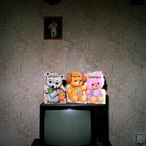 Greetings card on top of a television
