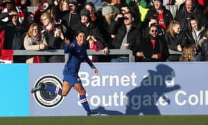 Sam Kerr of Chelsea scores the second goal.