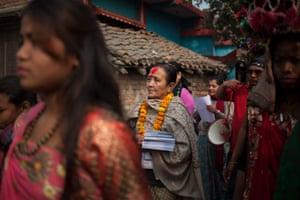 Anuradha Koirala is founder of Maiti Nepal, an anti-trafficking organisation. She goes town to town raising awareness.
