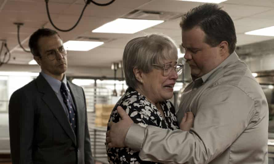 Unassuming courage … from left, Sam Rockwell, Kathy Bates and Paul Walter Hauser in Richard Jewell.