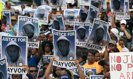 Protestors in Florida following the shooting of Trayvon Martin.